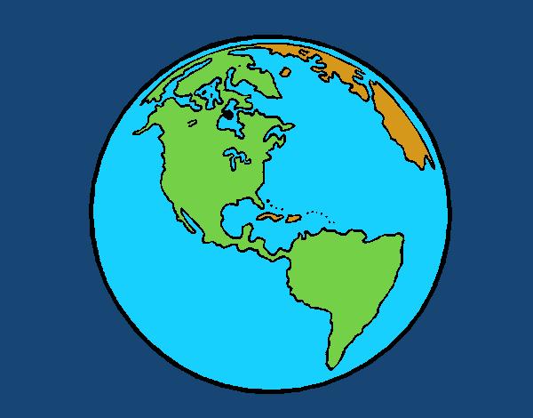 Dibujo De Planeta Tierra 1 Pintado Por Crown En Dibujosnet El Día