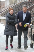 Julianne Moore and Alec Baldwin pictured on the set of the 'Still Alice' movie in Uptown, Manhattan 3/02/14 x16 HQ's