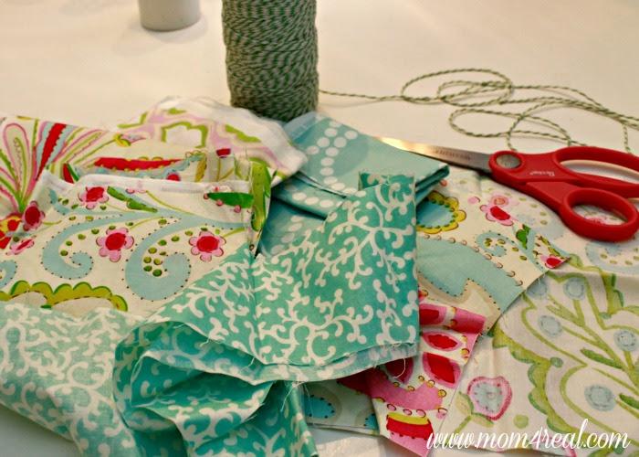 DIY Throw Pillows With Rag Garland Embellishment