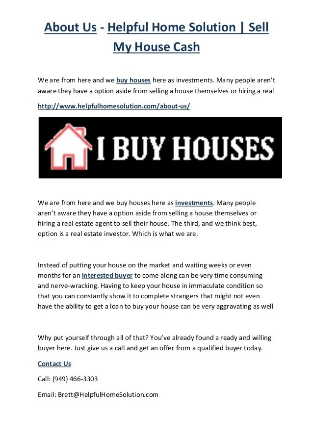 About Us - Helpful Home Solution | Sell My House Cash