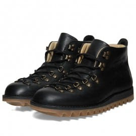 Fracap Ripple Sole Scarponcini Boot Black & Antique Brass