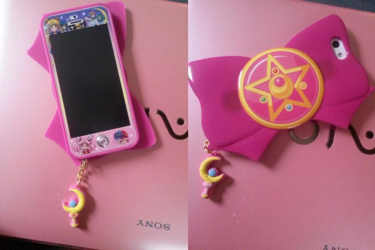 My Sailor Moon themed iPhone 5! :) : sailormoon