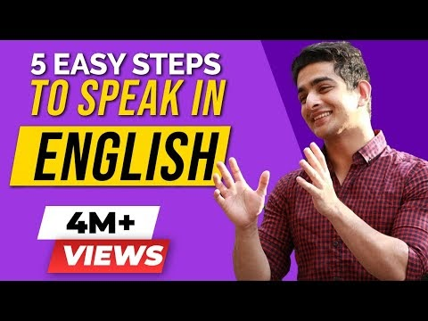 5 Easy Steps To Speak In ENGLISH Fluently And Confidently | English Speaking