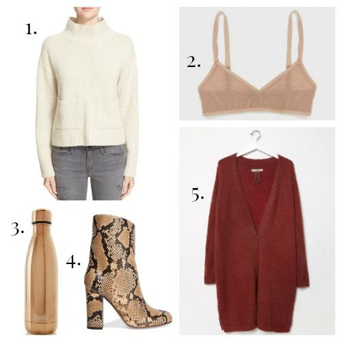 FRAME Sweater - Land of Women Bra - S'Well Bottle - Iris and Ink Boots - Humanoid Sweater