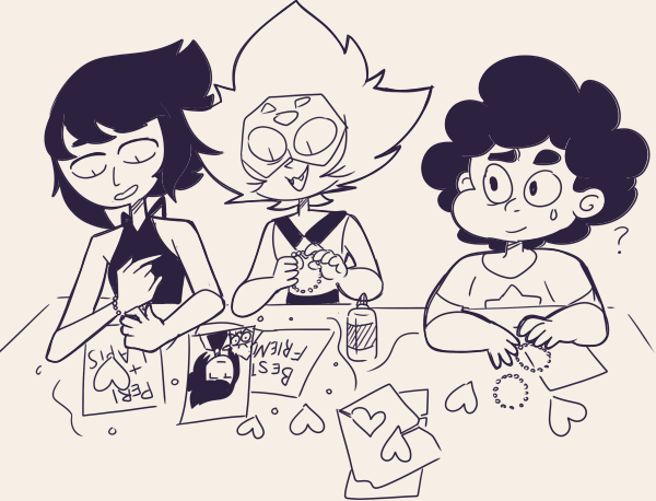 Steven's surprised arts n crafts day is actually working More lapidot doodles (Will I ever stop??)