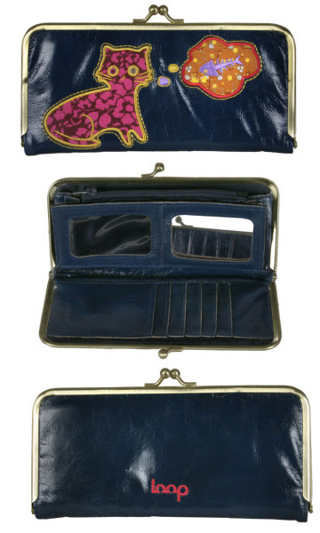 Cat And Fish Janette Clutch Wallet by Loop