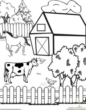farm worksheet educationcom