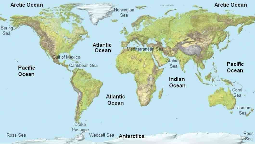 Oceans Of The World Map