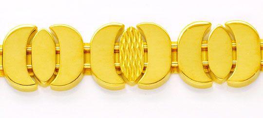 Originalfoto DESIGNER GOLD ARMBAND, 18K SICHERHEITSBÜGEL LUXUS! NEU!