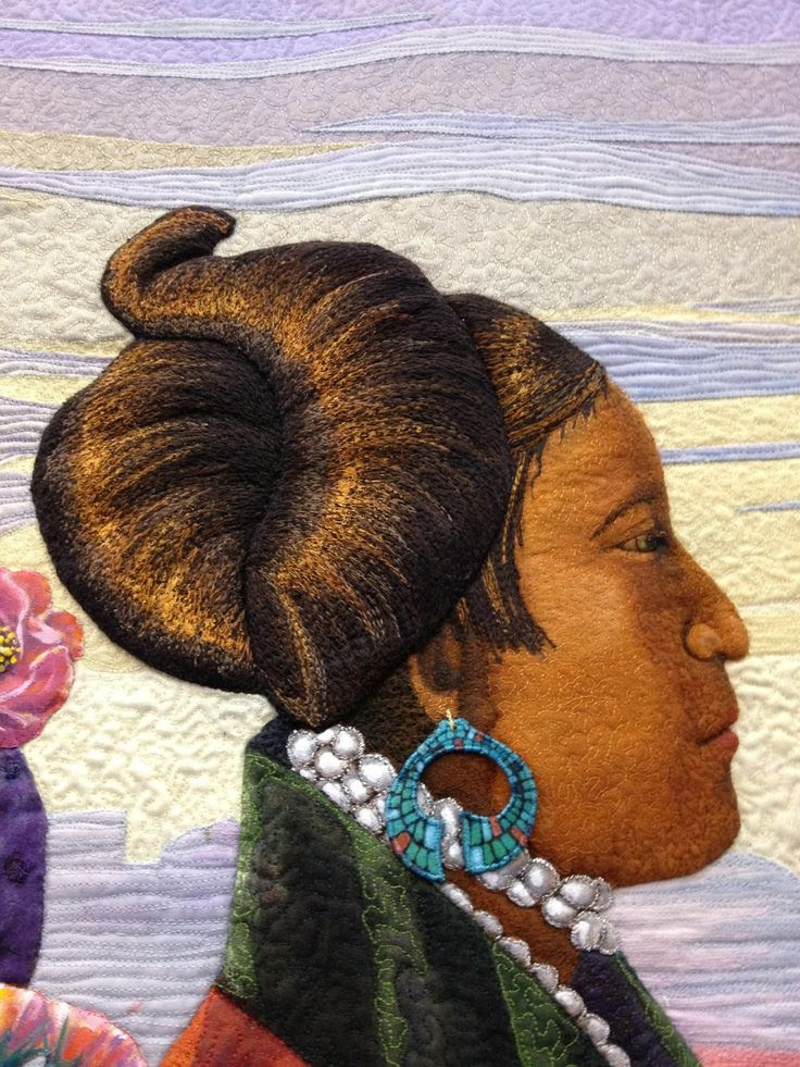 close up,  The Peaceful Ones by Denise Tallon Havlan.  2013 Mid Atlantic Quilt Festival, photo by Sarcastic Quilter