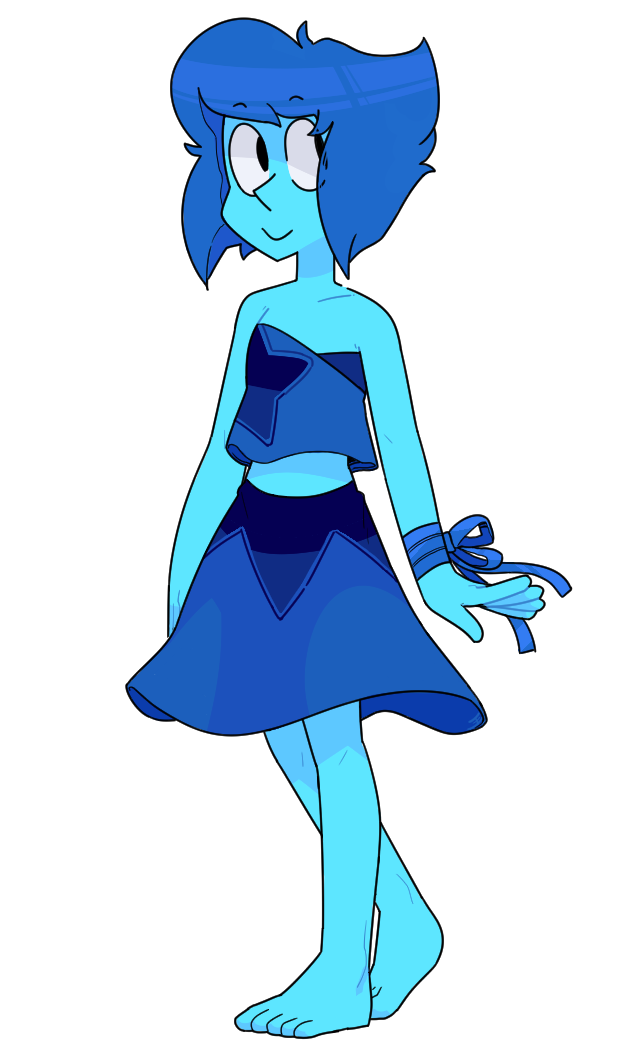 Well, she'd probably look like a gem until she reformed, after which maybe something like this?