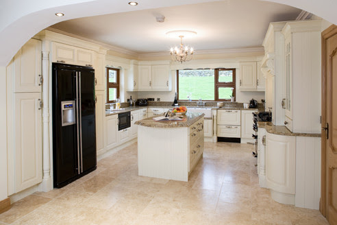 cream painted - traditional - kitchen cabinets - other metro - by ...