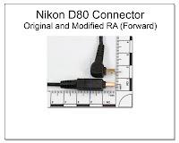CP1061: Nikon D80 Connector - Original and Modified RA (Forward)