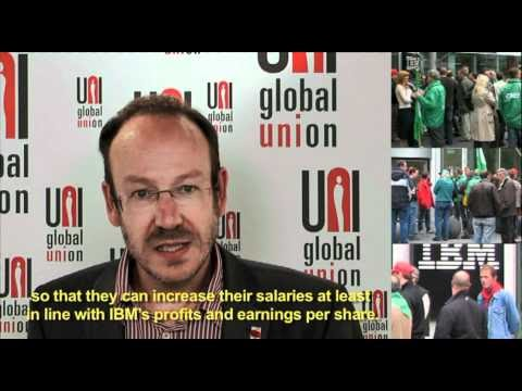 Trade unions video message to IBM