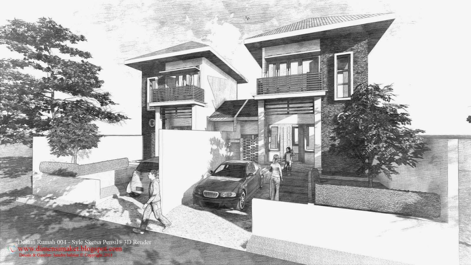 Gambar Rumah Dari Pensil Gambar Pemandangan Pensil Toko Fd
