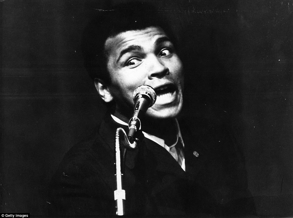 On 2 December 1974, then heavyweight champion of the World Ali addresses a Nation of Islam meeting at a theatre in London