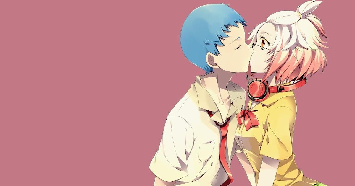 26 Anime Couple Kissing Hd Wallpaper