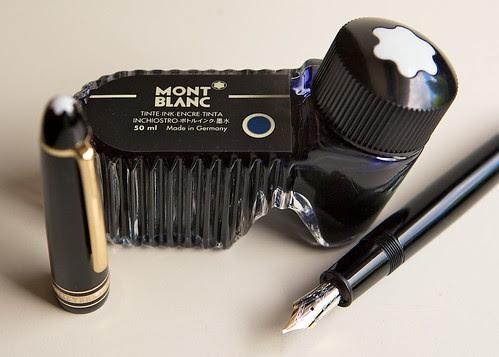 Montblanc Blue Black ink