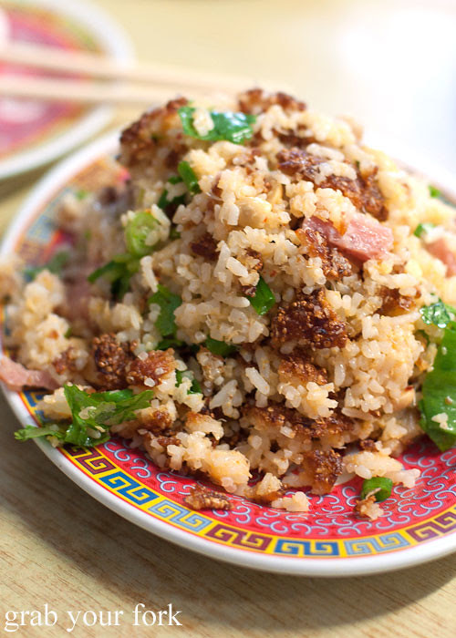 crispy fried rice at lao village fairfield