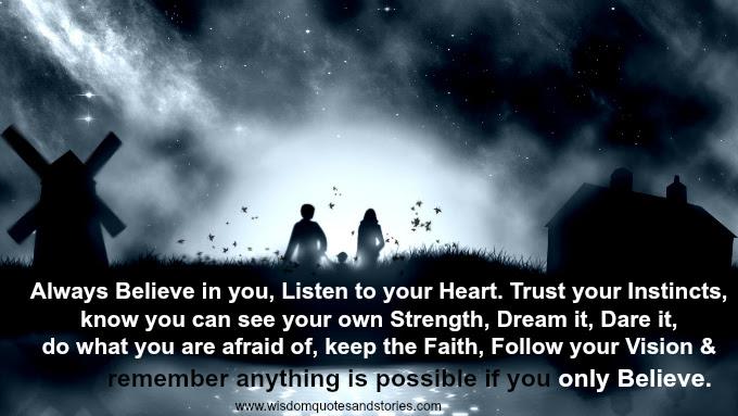 Trust Wisdom Quotes Stories