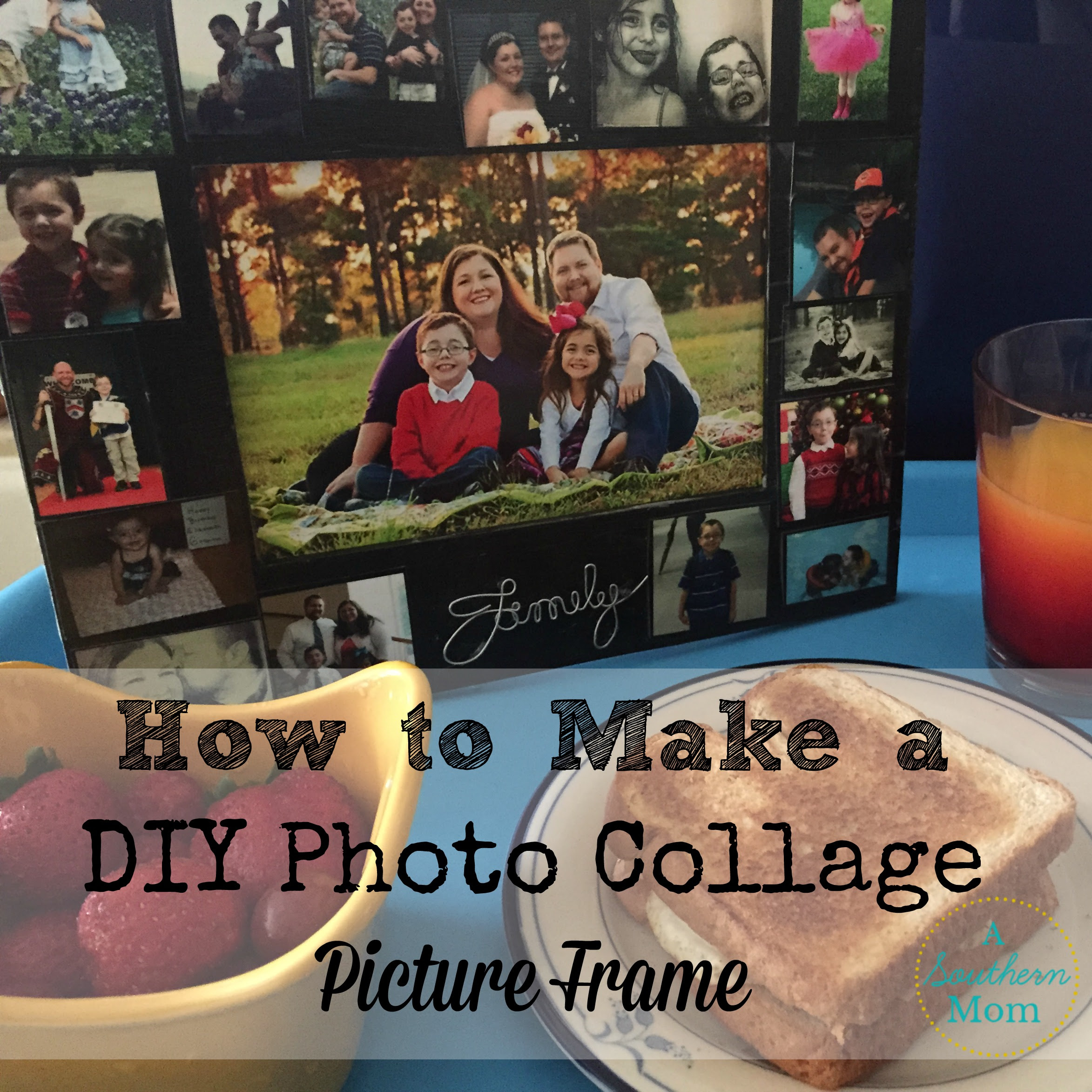 Diy Mod Podge Photo Collage Picture Frame A Southern Mom