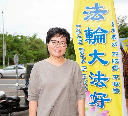 图:亲切又善体人意的梅山乡乡长夫人金花,有幸修炼法轮功,医生治不好的疑难杂症都炼好了。