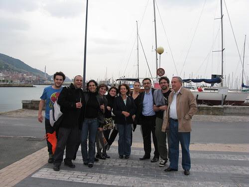 Con David de Ugarte, Antoni Gutiérrez-Rubí, indianos,...