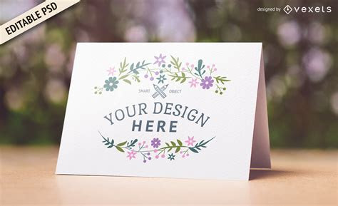 Wedding card PSD mockup design   PSD download