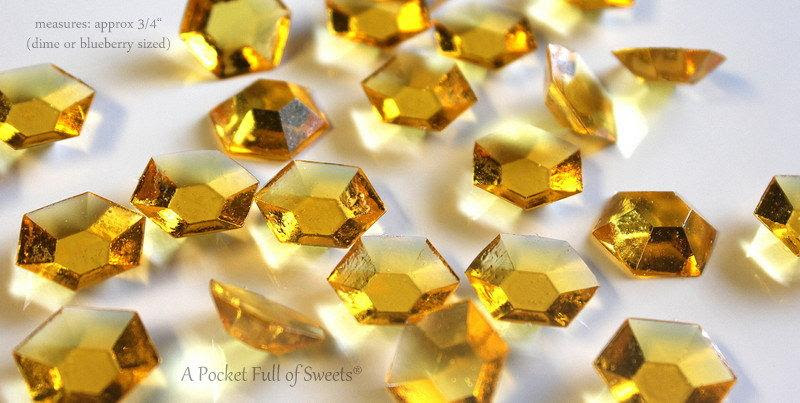 Minecraft Party Gold Edible Candy Gems Jewels 125 Diamonds Cupcake