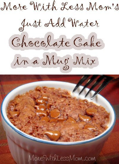 Just Add Water Chocolate Mug Cake Mix Recipe from More ...