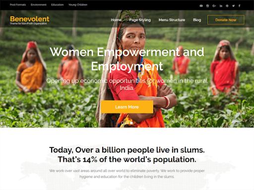 35+ Free Wordpress Themes for Non Profits/Charities/NGOs