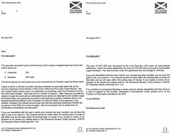 CRU FOI no recovery of legal aid fraud Scotland