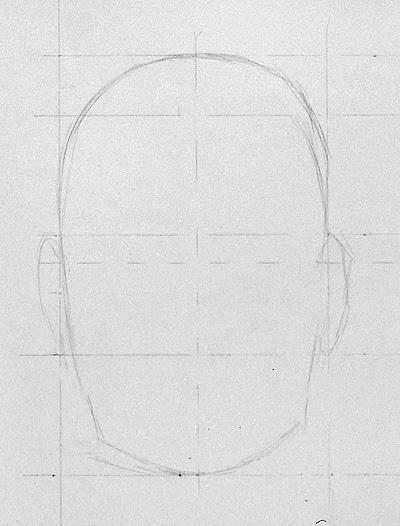 Ubung Portrait In Der Frontalansicht Zeichnen