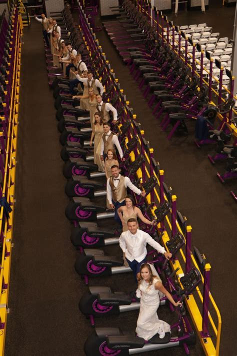 This couple got married in a Planet Fitness, but we