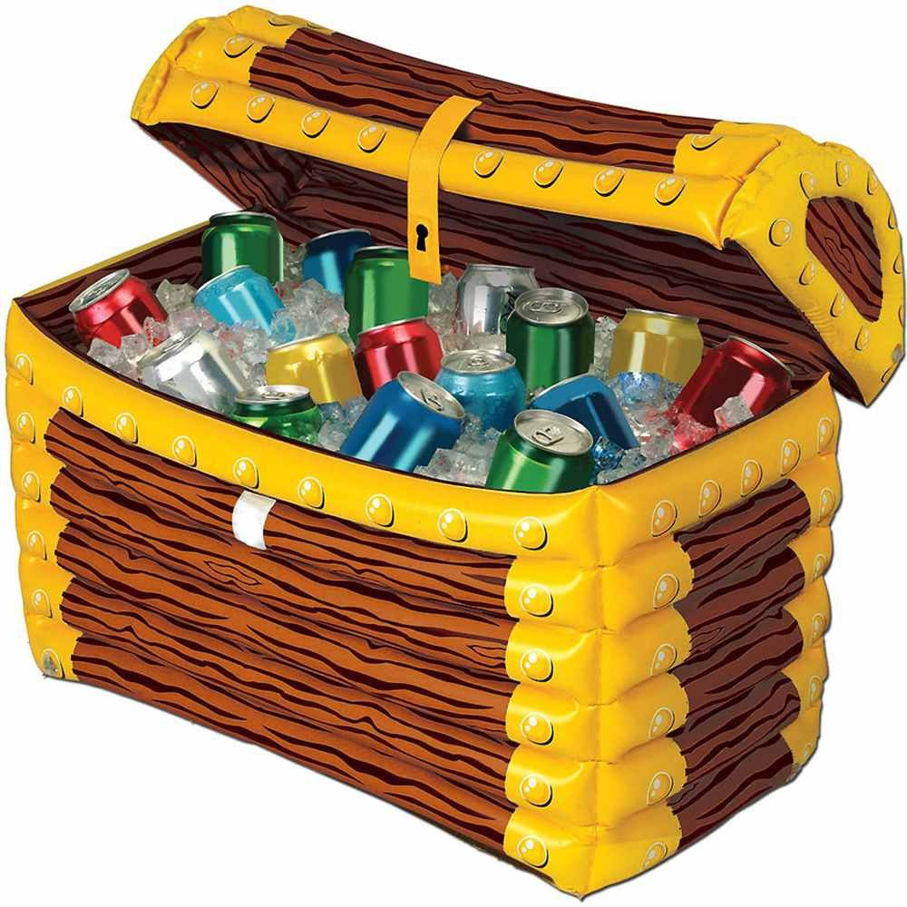Beistle Pirate Chest Inflatable Beverage Cooler