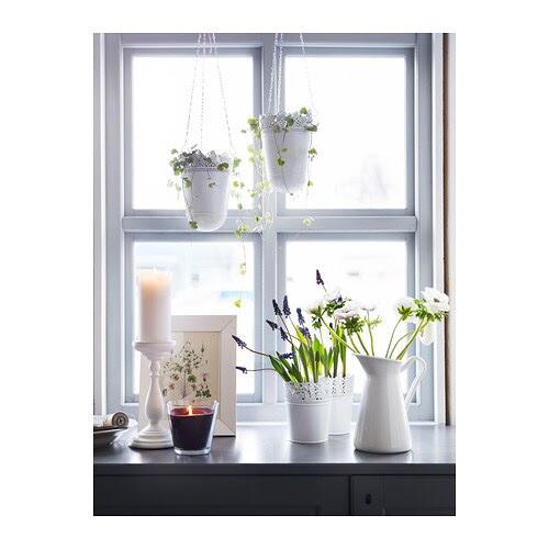 SKURAR Portavasi, bianco sporco Diametro esterno: 12 cm Diametro max. vaso: 10.5 cm Altezza: 15 cm Diametro interno: 12 cm