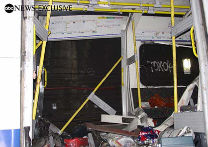 From ABC news - Bombed London Underground carriage at Aldgate