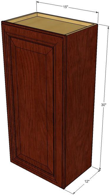 Small Single Door Brandywine Maple Wall Cabinet - 15 Inch ...
