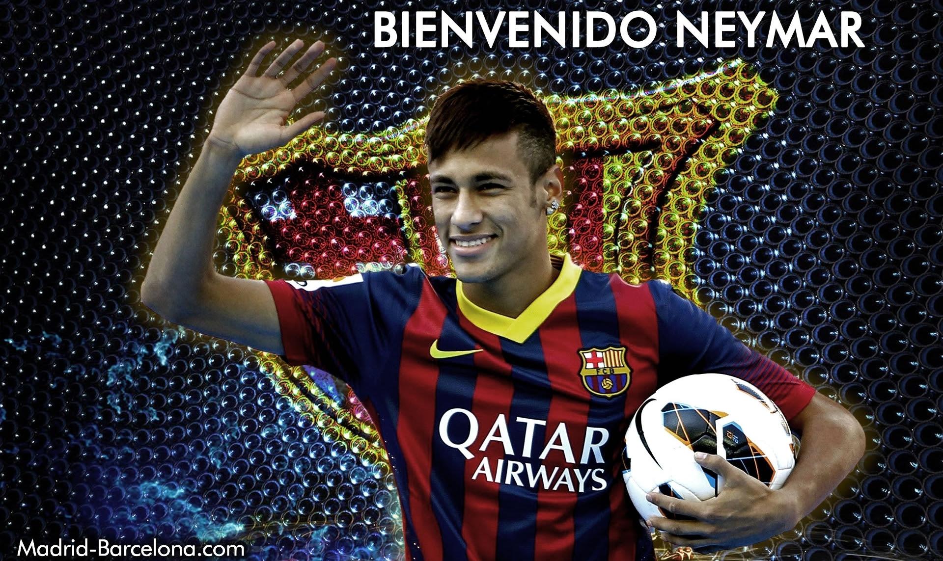 Neymar Welcome To Barcelona HD Wallpaper | Wallpup.com