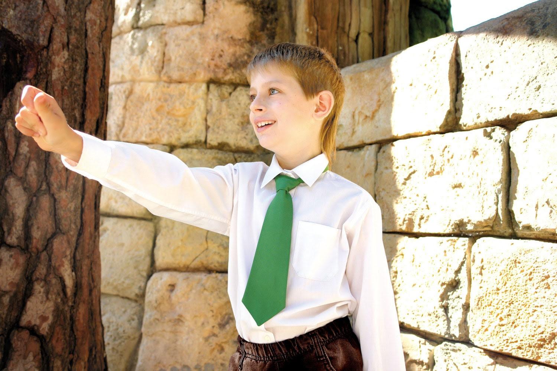 Tie for Boys NeckTie Green  gingham tie, gifts for kids,  little man tie, little boy tie, baby tie, holiday tie - TheBestBoysTies