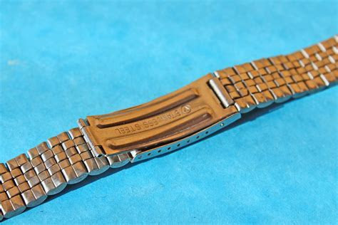 JUBILEE WATCH BAND FOLDED LINKS STAINLESS STEEL 20mm