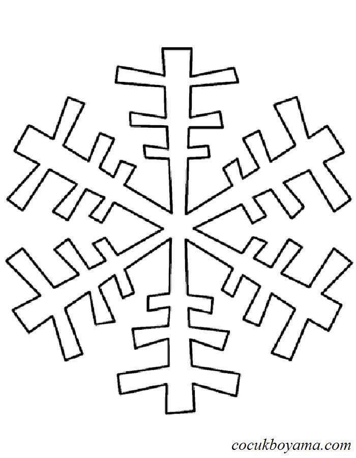 Kar Tanesi 29 ücretsiz Boyama Resimleri