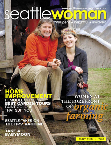 May Cover, Seattle Woman Magazine, organic farm in Indianola, WA