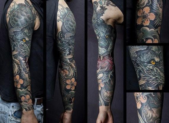 Melhor meia manga tatuagens para homens