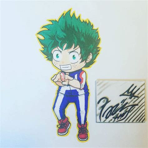 chibi deku drawing process anime amino