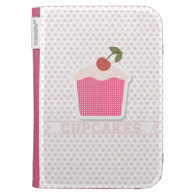Cupcakes & Polka Dots Kindle reader Kindle Folio Case