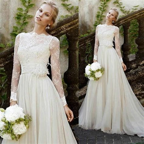 2015 New Design Vintage Wedding Dresses Illusion Garden