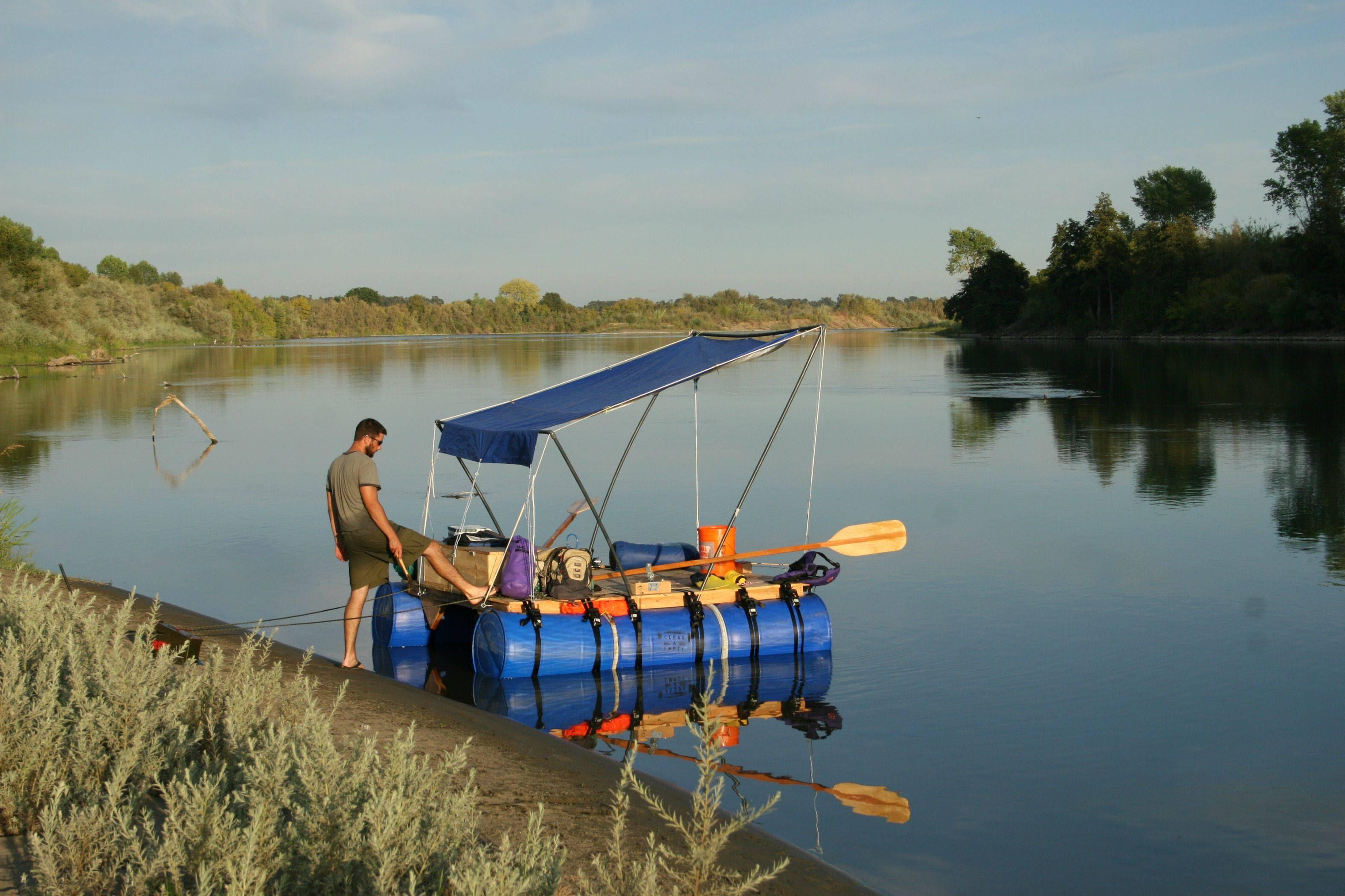 barrels and traveled 187 miles down the Sacramento River. : pics