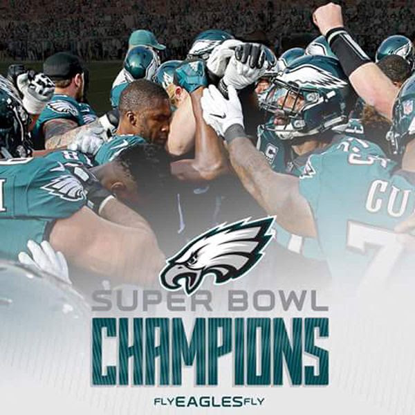 The Philadelphia Eagles are the 2018 Super Bowl champions!