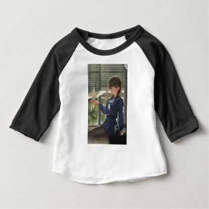 Lil Sis Waits For Your From Work Baby T-Shirt
